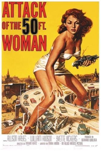 Poster de el ataque de la mujer de 50 pies
