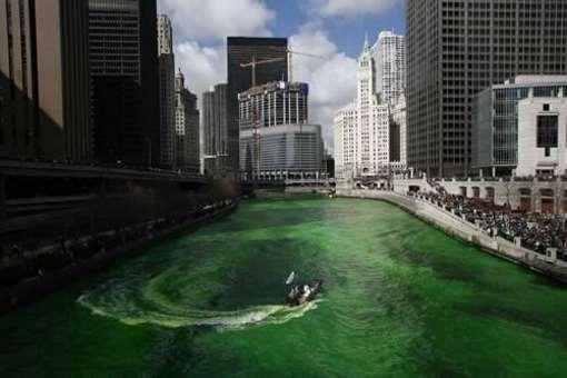 Canal verde por día de San Patricio