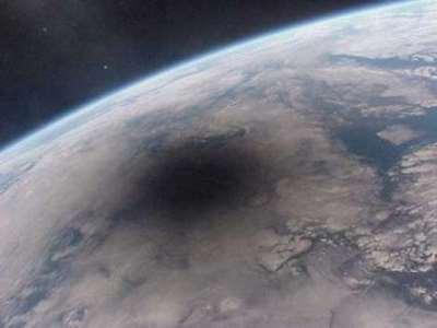 Luna sobre la Tierra