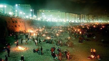 San Juan en la playa