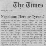 Curiosos titulares ante llegada de Napoleón a París