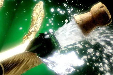 Descorchando el champagne en Navidad