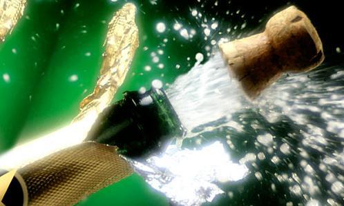 Descorchar una botella de Champagne