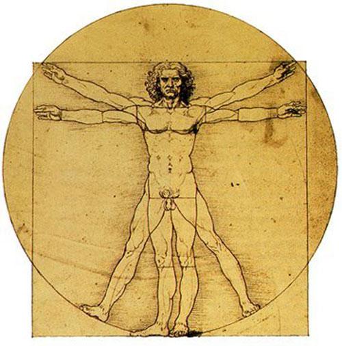 Cuerpo Humano por Leonardo Da Vinci