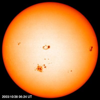 Manchas y ciclos solares, el sol descansa