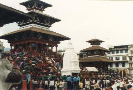 La Fiesta de la diosa viviente Kumari en Nepal