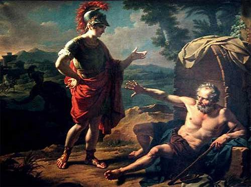Diogenes y Alejandro