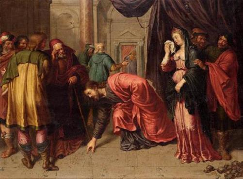 Cristo y adultera