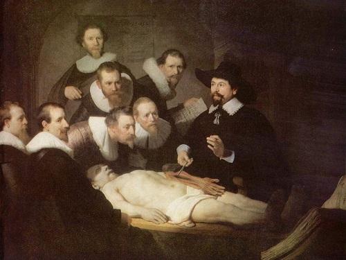 La autopsia por Rembrandt