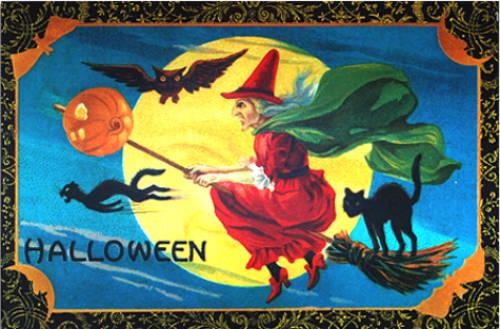 Bruja, Halloween y Gato Negro