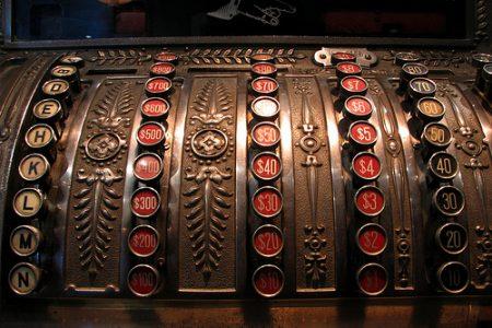 La primera máquina registradora