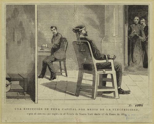 Pena de muerte con silla electrica
