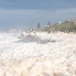 El día de la espuma en el mar de Australia