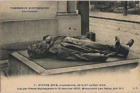 La curiosa historia de Víctor Noir y su tumba